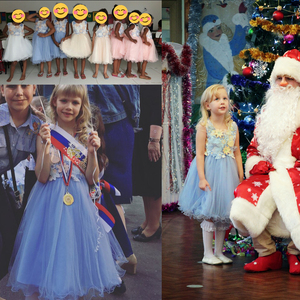 Image 5 - Cielarko Kids Girls Flower Dress Baby Girl Butterfly Birthday Party Dresses Children Princess Fancy Ball Gown Wedding Clothes