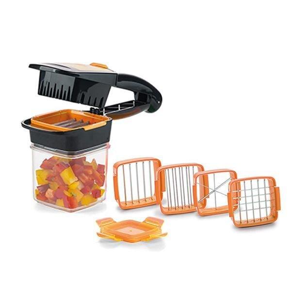 Niza Dicer rápido 5 en 1 frutas y verduras cortador según lo visto en TV Perfect ayudante de cocina para rápido y comidas saludables Slicer