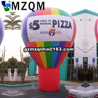 inflatable replica advertising rooftop standing hot air balloon model giant inflatable hot air roof balloon