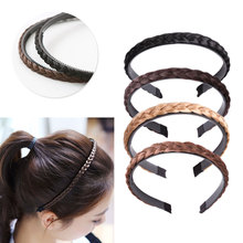 Women Girls Fashion Hair accessories Vintage Headband Braids Band Headwear Wig Accessories