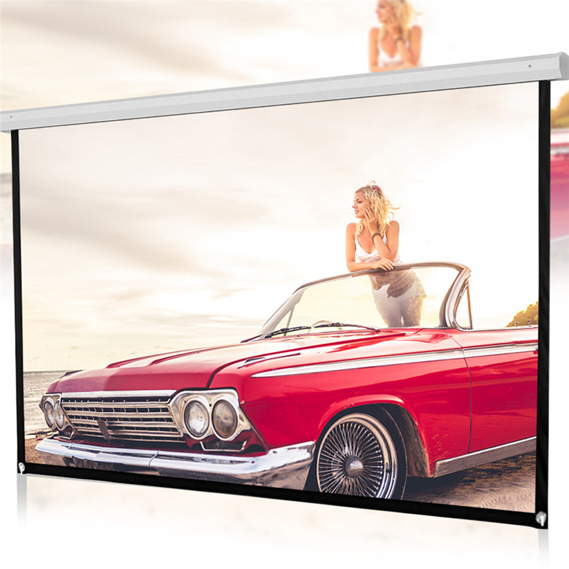 84inch HD Projector Screen 16:9 Home Cinema Theate-r Projection Portable Screen