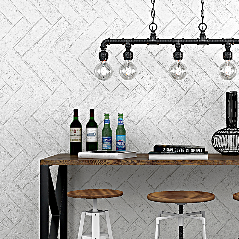 PVC Wallpaper Modern Vintage White Brick Wall Paper Rolls For Walls 3D Restaurant Cafe Study Background Wall Covering Home Decor shinehome abstract brick black white polygons background wallpapers rolls 3 d wallpaper for livingroom walls 3d room paper roll