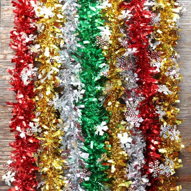 Us 1 29 35 Off Ourwarm 2m New Year S Decorations For The House Christmas Tinsel Garland Christmas Tree Decorations Home Decoration Accessories In