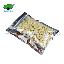 (Openning  6-18 cm) Wholesale 100 -1000 Pcs Zip Lock Clear Foil Bags One Side Clear One Side Silver Color Bags  For Food Storage
