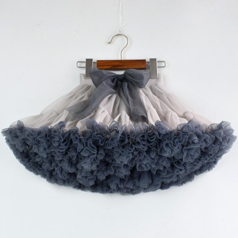 Girl designed tutu skirt new extra fluffy pettiskirt kids fashion princess soft tulle birthday holiday party performance skirt skirt olimara skirt