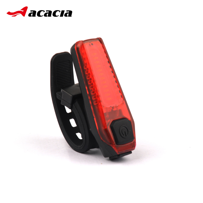 ACACIA Bicycle Light 120 Lumens Rechargeable COB LED USB Mountain Bike Tail Light Taillight Safety Warning Bicycle Rear Light