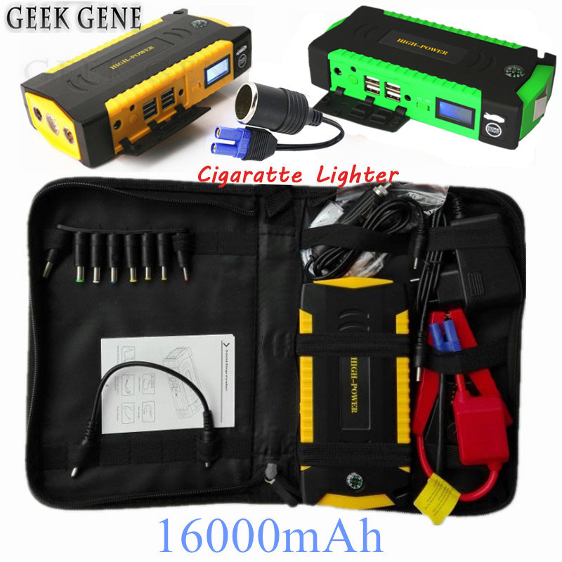 Car Jump Starter 600A Portable Starting Device 16000mAh Power Bank 12V Car Charger For Car Battery Diesel Petrol Booster Buster car jump starter 600a portable starting device lighter power bank 12v charger for car battery booster starting petrol diesel ce
