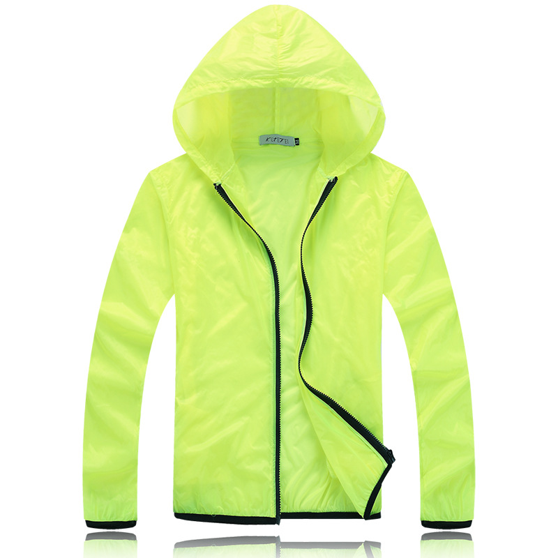 Couples Sunscreen Fashion Solid Color Thin Windbreaker Jackets Fast Dry Loose 5 Color Big Size M-3xl Outwear Db-805