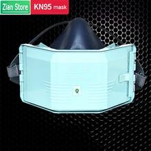 אבק מסכת סיליקון מסכת אבק מסנן כותנה שילוב סט עבור תעשייתי אבק הגנת ליטוש אבק PM2.5 מגן מסכה