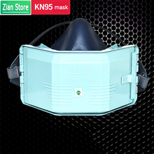 Dust Mask Silicone Mask Dust Filter Cotton Combination set for Industrial Dust Protection Polishing Dust PM2.5 Protective Mask