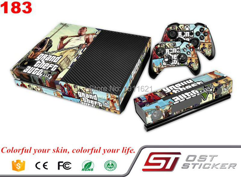 US $36 98  OSTSTICKER Decal for GTA protcetive for Microsoft custom decals  custom stickers cheap for xbox one-in Stickers from Consumer Electronics on