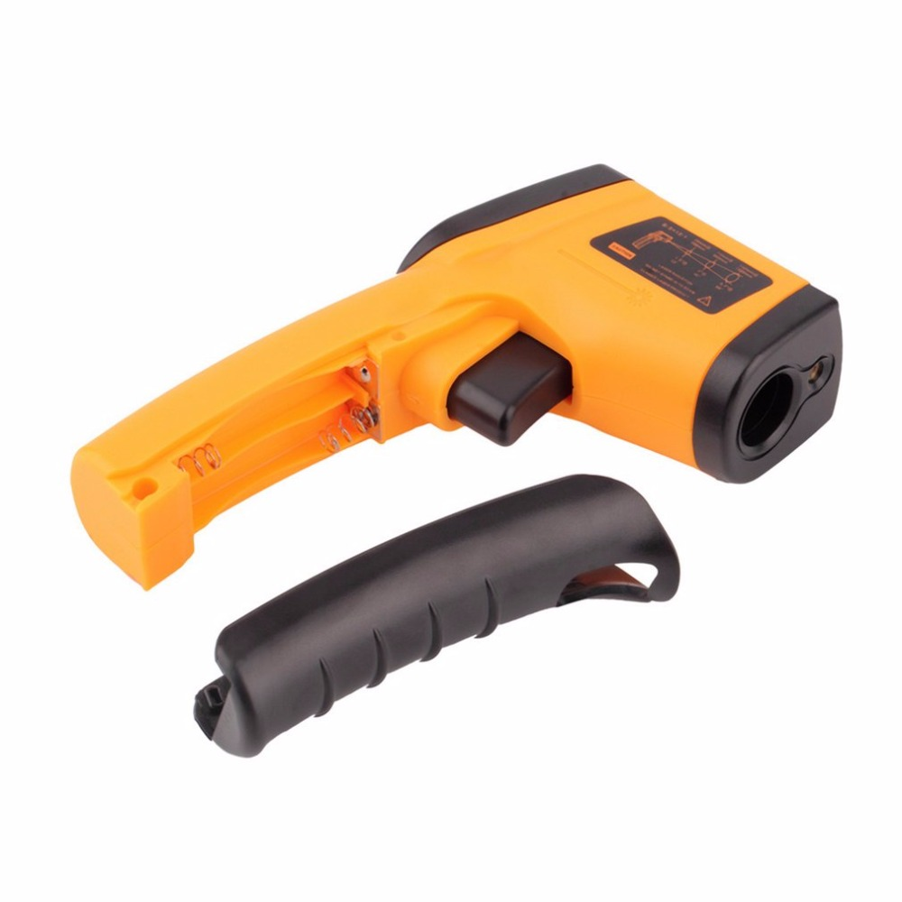 Non-Contact LCD Display IR Laser Infrared Thermometer Sensor Detector Digital Temperature Meter Gun with Data Holding Function multi purpose dual laser lcd display ir infrared thermometer 50 to 1050 degree celsius temperature meter sensor ht 819 page 2