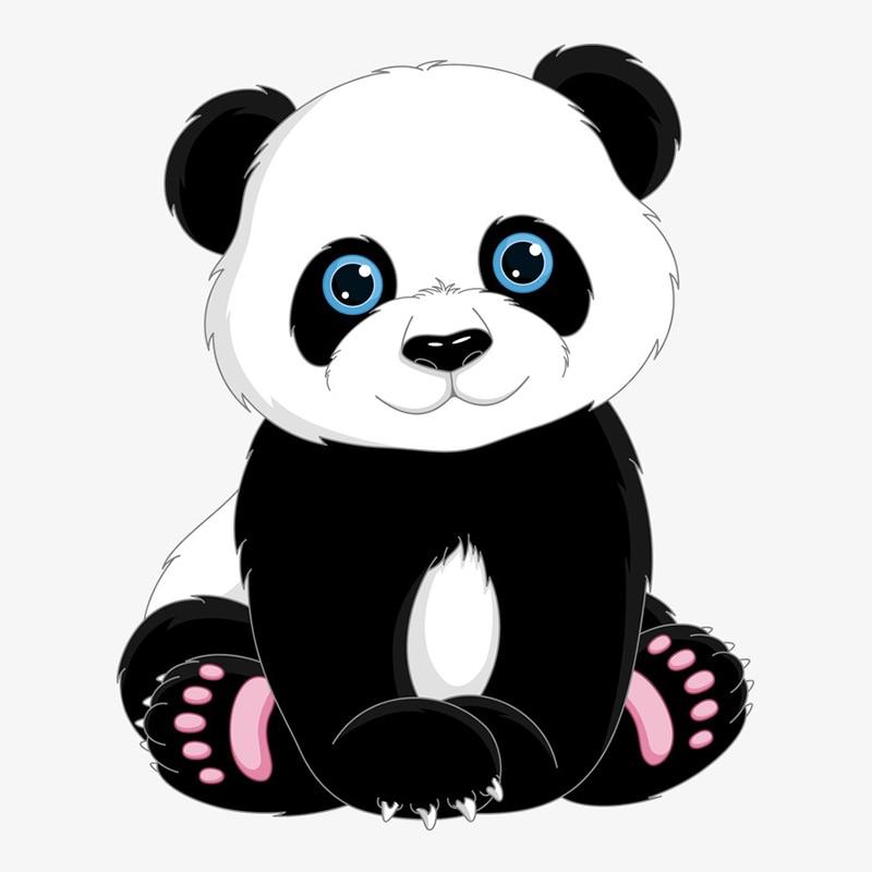 Rylybons Body Car Sticker Anime Cute Panda Cartoon Vinyl