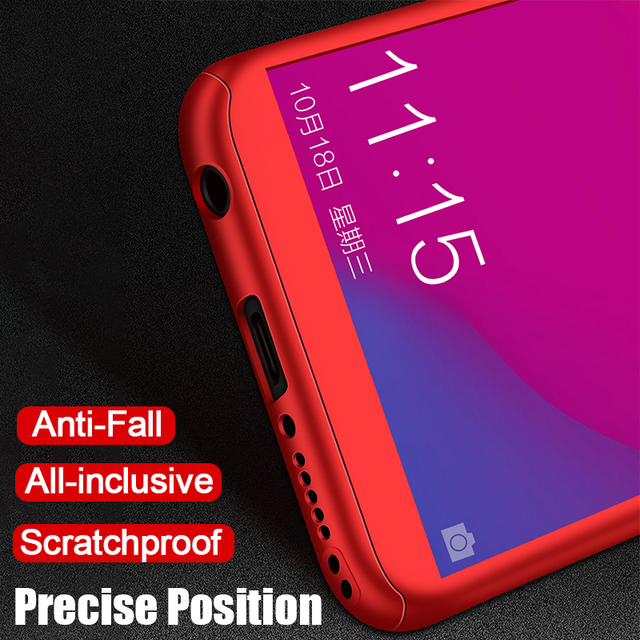 Luxury 360 Full Cover Phone Case For Huawei Honor 7C 7A Pro Case For Honor 8 Lite Case With Tempered Glass For Honor 8X Max Case
