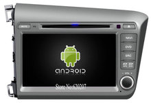 S160 Android 4.4.4 CAR DVD player FOR NEW HONDA CIVIC 2012 (For Left Hand Driver) car audio stereo Multimedia GPS Quad-Core