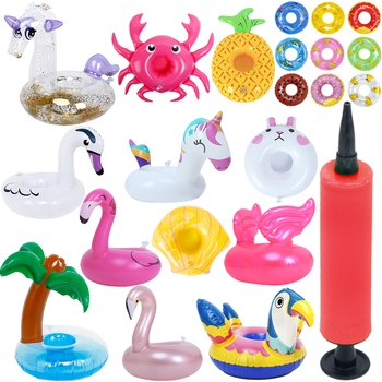 Lindo Mini anillo de piscina Lifebuoy flotador playa de verano boya Lifebelt Pump DIY accesorios para muñeca Barbie bebé niña juguete para niños