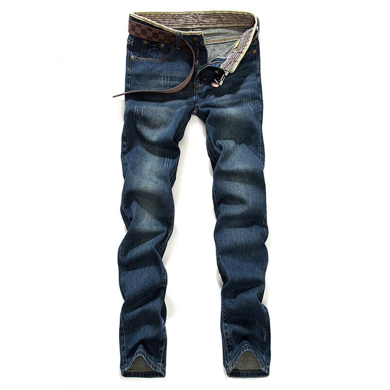 Left ROM New 2017 Male Fine Cotton Fashion Leisure Blue Jeans / Male Straight High-grade Quality Casual Jeans Mens Pants jeans mens cotton blue male jeans 2017 new men pants fashion business casual size 42 hot sale high quality best choice left rom