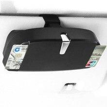 Автомобиль очки Дело Организатор Box Car козырек от солнца солнцезащитные очки держатель карманы для хранения билет держатель для Карты ABS