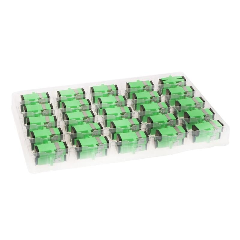 50PCS/bag SC APC Simplex Mode Fiber Optic Adapter SC APC Optical Fiber Coupler SC Fiber Flange