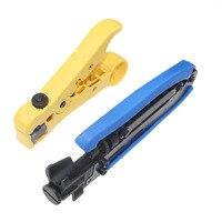 2pcs Set Coaxial Crimper Stripper Compression Tool For RG59 RG6 RG11 Connector Cable