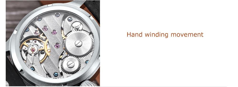 HTB19z8Fi7SWBuNjSszdq6zeSpXap Corgeut 17 Jewels Mechanical Hand Winding Watch Seagull 3600 Movement 6497 Fashion Leather Sport Luminous Man Luxury Brand Watch