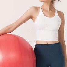 Однотонные бретельки для йоги, для спортзала, укороченные топы для женщин, быстросохнущие спортивные бюстгальтеры для бега, Беспроводная Фитнес-жилетка для бега, Майки