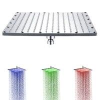 300mm 12 inch LED Shower Heads Luxury Bathroom Rainfall ABS Rain Rectangular Top Spray Shower Head for Sale