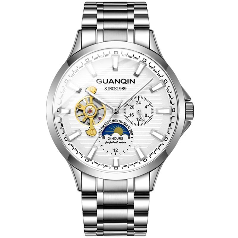 HTB19z94aW5s3KVjSZFNq6AD3FXas GUANQIN 2019 new watch men waterproof Automatic Luminous men watches top brand luxury skeleton clock men leather erkek kol saati