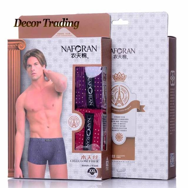 2PCS/LOT Fashion Sexy Cotton Mens Boxers Shorts Underwear Brand Solid color Breathable Men's Boxer Underpants C6001