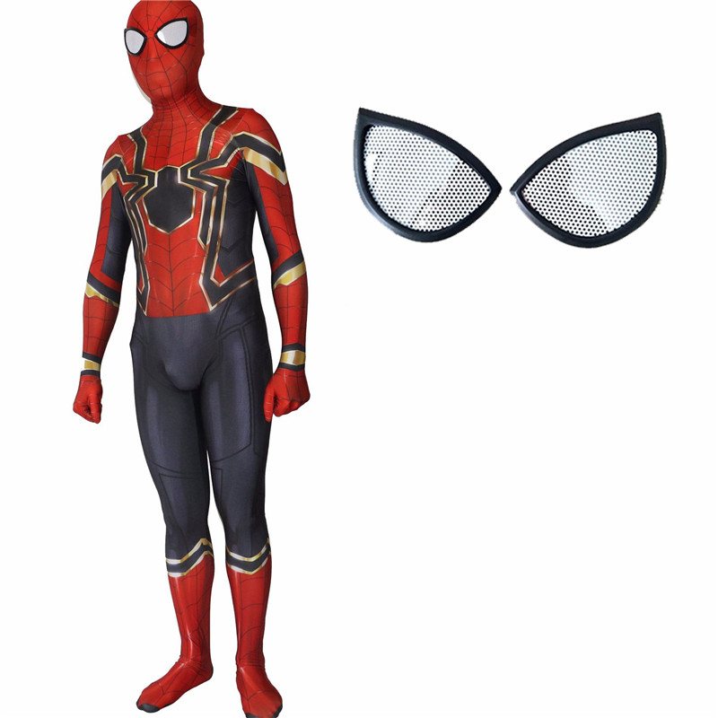 Ainiel Enfants Adulte Homecoming Spiderman Cosplay Zentai Fer Spider ... 710c9f5f11b