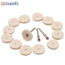 GOXAWEE 100pcs Mini Buff Polishing Wheels for Dremel Rotary