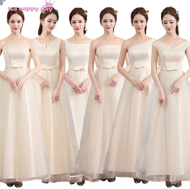 Musim Panas Modern Bridesmaid Gown Pola Gaun Pesta Panjang Elegan