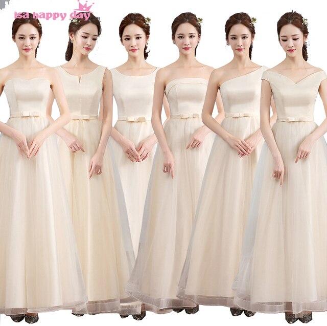 a00b7c109 Verão modernos padrões de vestido de festa da dama de honra vestido  elegante longo de noiva