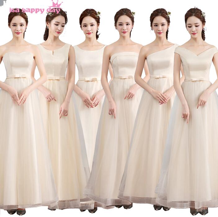 verano moderno vestido de dama de honor larga elegante nupcial patrones para vestidos de fiesta champn