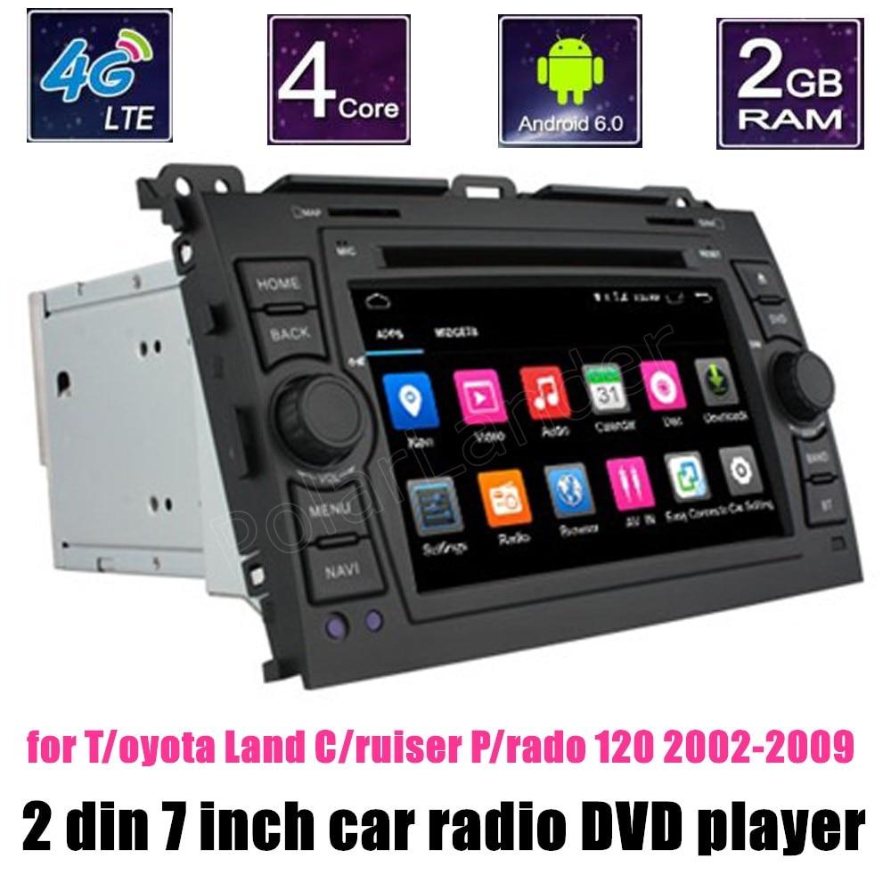 Android 6.0 lecteur DVD de voiture Radio WIFI pour Toyota Hilux VIOS vieux Camry Prado RAV4 Prado 2003-2008 Navigation GPS