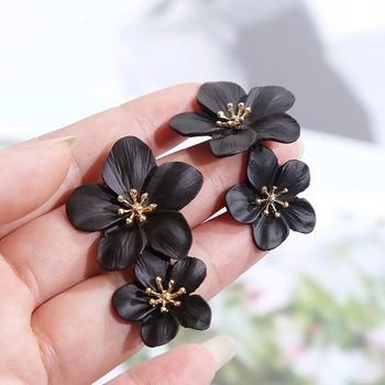 New Trendy Geometric Black Flower Long Big Earrings For Women 2019 Vintage Statement Large Metal Earring.jpg 350x350 - New Trendy Geometric Black Flower Long Big Earrings For Women 2019 Vintage Statement Large Metal Earring Fashion Jewelry Gifts
