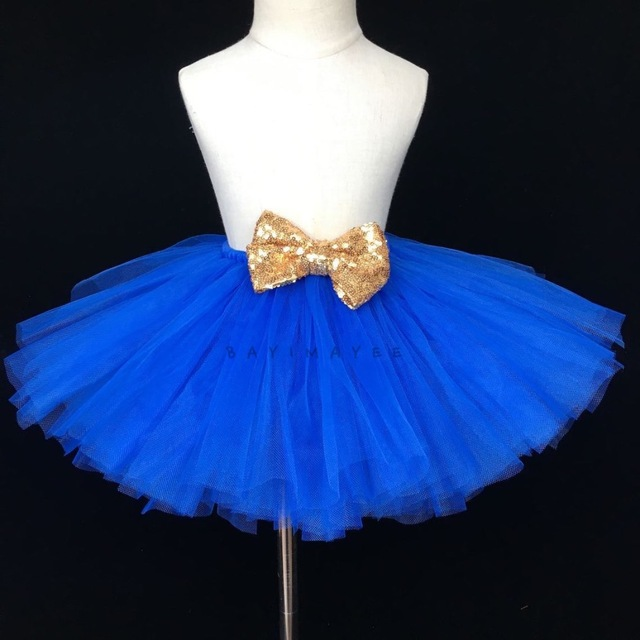 c144c536199b Baby Girls Blue Tutu Skirts Kids Fluffy Tulle Skirt Ballet Dance ...