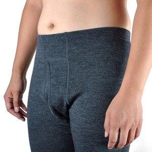 Image 4 - 100% de lana de Merino pura para hombre, capa Base de invierno, suéter térmico cálido, ropa interior transpirable, Tops de peso medio, pantalones, conjunto inferior