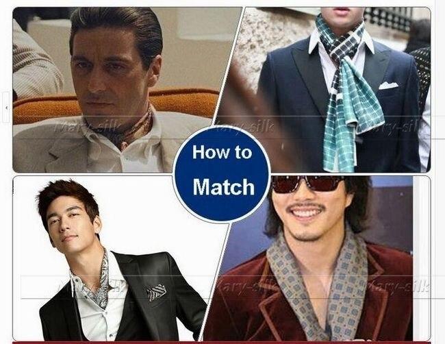 Модные брендовые мужские шелк длинный шарф галстук scarives Слои черный плед_ для Весна-осень-зима