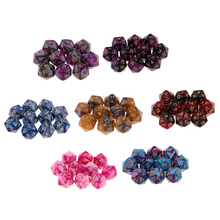 High Quality 10PCS Polyhedral Dice Set Numbers 1-20 Multi-sided D20 Party Funny Table Dices Games Educational Toys