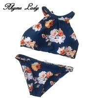 Rhyme Lady 2018 Sexy Bikini Set Women S Swimsuits Floral Brasileiro Conjunto Biquini Two Piece Swimwear