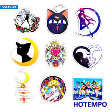 9pcs Anime Sailor Moon TV Cartoon Stickers for Mobile Phone Laptop Luggage Guitar Case Skateboard Bike Moto Car Decal Stickers(China)