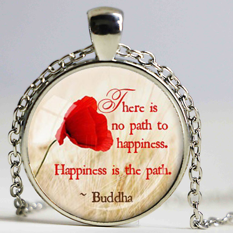 BUDDHA QUOTE PENDANT Happiness Quote Inspirational Jewelry ...
