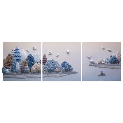 Фу резные современный простой рельеф 3D настенная живопись, гостиная украшения, диван фон настенная живопись, Nordic живопись