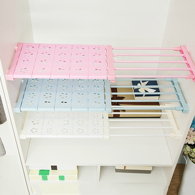 DIY Partition Shoe Racks Clothes Rack Cabinet Organizer Wardrobe Storage  Rack Stretchable Closet Shelf Space Save