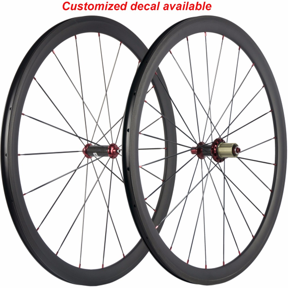 700C Racing Bicycle Carbon Wheels 38mm Carbon Road Bike Wheelset Clincher 3K cadre carbone Wheel Carbon R36 Hub