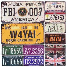 Car Metal License Plate Vintage Home Decor Tin Sign Bar Pub Garage Decorative Painting Plaque FBI 007 Nevada C9