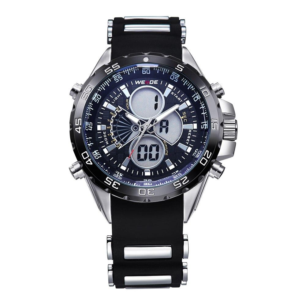 WEIDE Watch Men Stopwatch Quartz Digital Analog Army Men s Military Sports Watch Silicone Strap Luxury