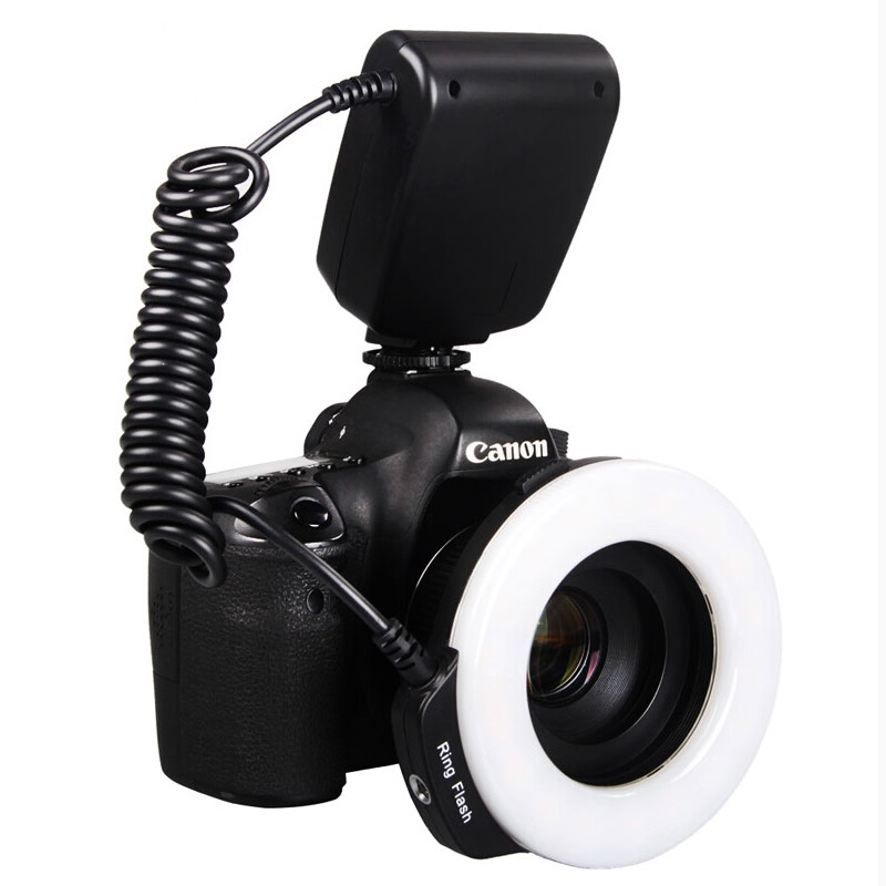 Aputure LED Macro Ring Flash light Macro flash for all models SLR cameras 4 Diffusers Trigger