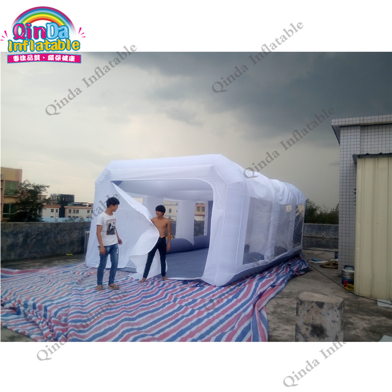 2017 Hot sale Airtight inflatable spray booth, portable inflatable paint booth for car maintaining